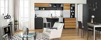 cuisine bois et cuisine moderne noir et bois ouverte ambiance rétro mobalpa