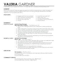 Retail Resume Objective Examples Sample Associate Of Resumes Clothing