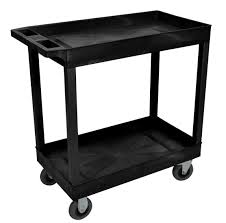 Uline Storage Cabinets Assembly Instructions by Black 32 X 18 Cart Two Tub Shelf W 5