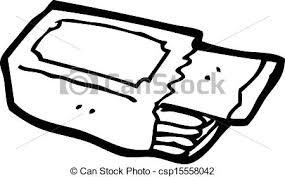 Cartoon Packet Chewing Gum Vector