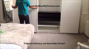 Wardrobes Flat Pack Wardrobes Sliding by Ikea Pax Anstad 3 Sliding Doors Wardrobe Youtube