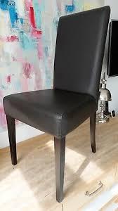 4 hochwertige esszimmer stühle leder dunkelbraun