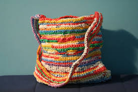 Rainbow Plarn Tote Bag