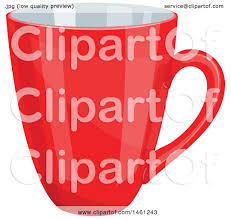 Clipart Of A Red Coffee Cup