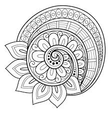 Simple Pdf Mandala Coloring Pictures Printable Flower Page Free Pages Advanced Level Celtic For Adults