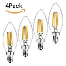 10 pack 4 watt e14 filament led bulbs 480lm 40w equivalent c35