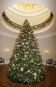 The Christmas Tree In Rotunda Of Old Governors Mansion