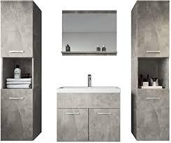 badezimmer badmöbel montreal xl 60 cm waschbecken unterschrank hochschrank waschtisch möbel beton