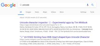Google search for the