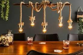 details zu design pendelleuchte mare tau bambus 110cm lang wohnzimmer esstisch hängele