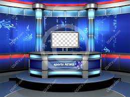 Sport Studio Background Is A News Virtual Set Made For Green Screen