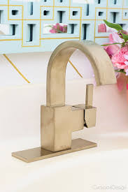 Delta Trinsic Bathroom Faucet Champagne Bronze by A Shiny New Faucet And A Major Giveaway Cuckoo4design