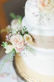 Flowers Cake Hessian Burlap Modern Rustic Ivory Barn Wedding Vickylamburn