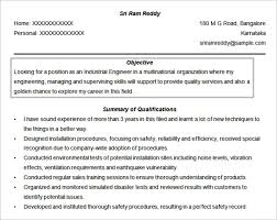 Engineer Resume Objective Format Free Download