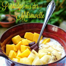 easy porridge haferbrei aus der mikrowelle