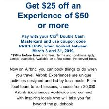 Expired] Get $25 Off $50 Airbnb Experiences With Mastercard (promo ... Best Airbnb Coupon Code 2019 Up To 410 Off Your Next Stay How To Save 400 Vacation Rental 76 Money First Booking 55 Discount Get An Discount 6 Tips And Tricks Travel Surf Repeat Airbnb Coupon Code Travel Saving Tips July Hacks Get 45 Expired 25 Off 50 Experiences With Mastercard Promo Review Plus A Valuable Add Payment Forms Tips For Using Where In The