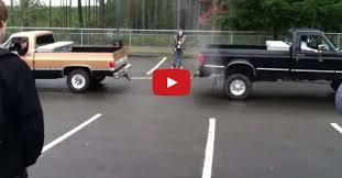 High School Kids Do Chevy Truck Vs Ford Truck Tug Of War And Take It ...