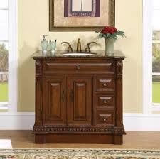 Bathroom Vanities 42 Inches Wide by 38 Inch Single Sink Bathroom Vanity With Granite Counter Top