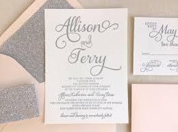 The Stargazer Suite Modern Letterpress Wedding Invitation Sample