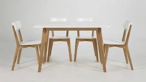 esszimmer set tisch und 4 stühle weiß lackiert birke