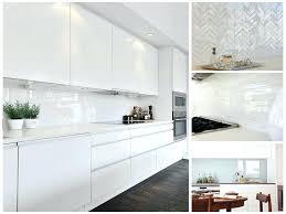 Glass Mosaic Tiles Kitchen Splashback For Perth White Tile Ideas