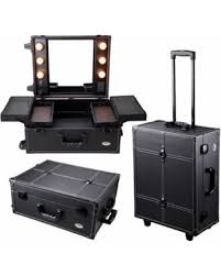 Great Deals on AW 15x8x19 Rolling Studio PVC Makeup Cosmetic Case