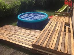 Swimming Pool Pallet Deck