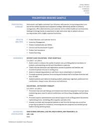 Volunteer Resume Sample How To Include Work On Your Where List Experience Including A Example And