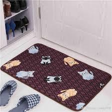 großhandel schöne katze printed badezimmer teppich badmatte wc teppiche bodenmatte design bad teppiche anti rutsch wc matte tapete banheiro
