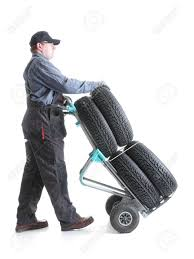 Serviceman Carrying A Set Of Four New Car Tires Using Hand Truck ... 6x2 Airless Allterrain Tires 1 Esk8 Mechanics Electric Tamarack Industries Painless Convertible Hand Truck Pneumatic Marathon Wheels 2pack02310 The Home Depot 2pack 10inch Diameter Tires With Sealed Wheel Bearings Truck Load Capacity 200 Kg Solid Rubber Magliner Mht75ac Motorized With And Tent Imsa Truckutility Tiresswivel Caster 35104 50psi Gpm Flatfree Dolly Northern Tool Equipment Flat Free Wheelbarrow Roofing 5 Best Stair Climbing Hand Trucks Dollies Top Picks 2 10 Hard Rubber Handtruck Kart Red Rim Cart Ebay