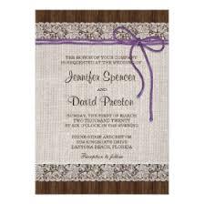 Purple Rustic Wedding Invitation Burlap And Lace 45