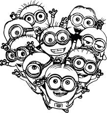 Multiple Minions Coloring Pages Bob Book Pdf King Large Size