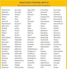 5 Letter Adjectives letter of re mendation