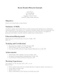 Examples Of Nurse Resumes Resume Samples Entry Level Travel