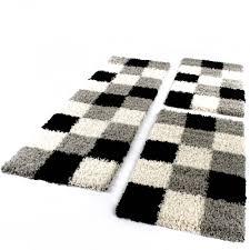 läuferset grau schwarz weiß 3tlg