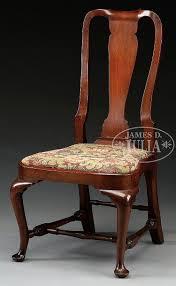 QUEEN ANNE WALNUT COMPASS SEAT SIDE CHAIR. Circa 1740-1770, Boston ...