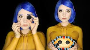 Youtube Carli Bybel Halloween by Coraline Halloween Makeup Tutorial Clothes Painted On Makeup