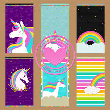 Unicorn Rainbow Wallpaper Set