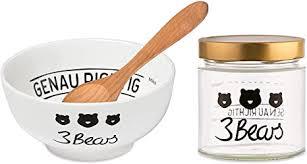 3bears porridge liebhaber set besteht aus transportglas löffel schale perfekte zubehör für dein genau richtiges porridge frühstück