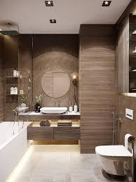 ein badezimmer in braun ist voller wärme luxus und stil