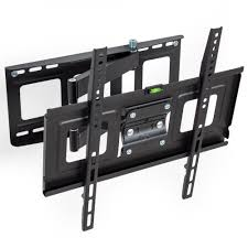 support tv mural universel tectake support mural tv universel inclinable et pivotant pour