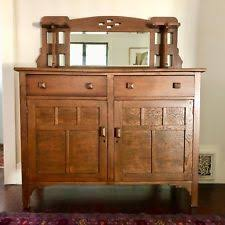 Arts And Crafts Oak Mirror Back Buffet Great Condition