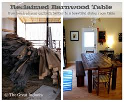 The Great Indoors: Our Reclaimed Barnwood Table 40 Stunning Reclaimed Wood Console Tables Fniture Bedroom Kitchen Fabulous Timber Ding Table Recycled Barn Buy Room Made From With Solid How To Build A And Bench Youtube Using Build Harvest Work Play Barnwood Coffee Coffee Table Teton End Rustic Mall By Creek For Sale Flooring At