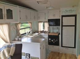 Vintage Camper Interior Trailer Makeover Color Schemes Fresh Renovating Our 5th Wheel A Diy