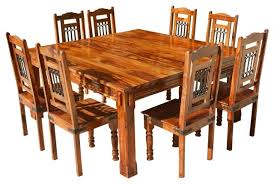 All Wood Dining Room Table Of Worthy Solid Rustic Piece Square Photos