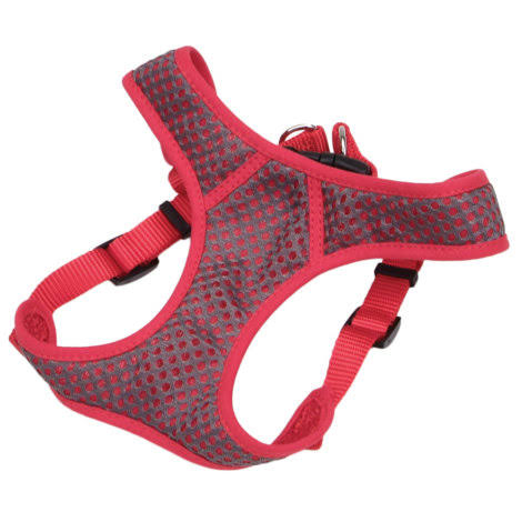 Comfort Soft Sport Wrap Adjustable Harness - Grey/Red - 14-16 in.