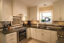 Remarkable White Cabinets Granite Countertops Kitchen Marvelous