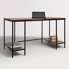 Small Glass And Metal Computer Desk by Home Office Furniture Desks U0026 Chairs World Market