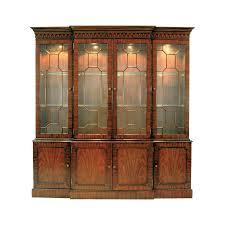 china cabinet mahogany breakfront lightedna cabinet furniture