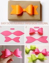 Diy Paper Bow Crafts Craft Ideas Crafty Easy By Mavrica